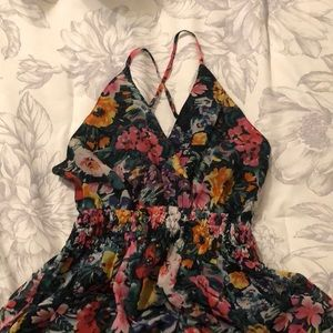 Yumi Kim Floral Silk Maxi Dress